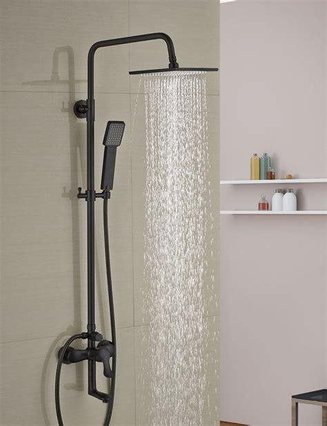 luxury oil rubbed bronze  square rain shower head faucet
