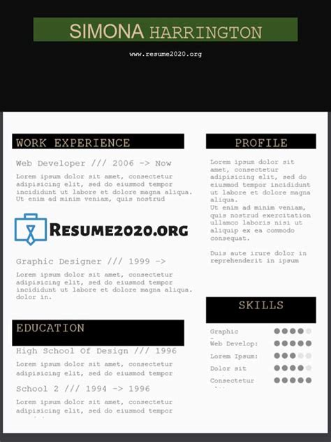 chronological   resume template resume