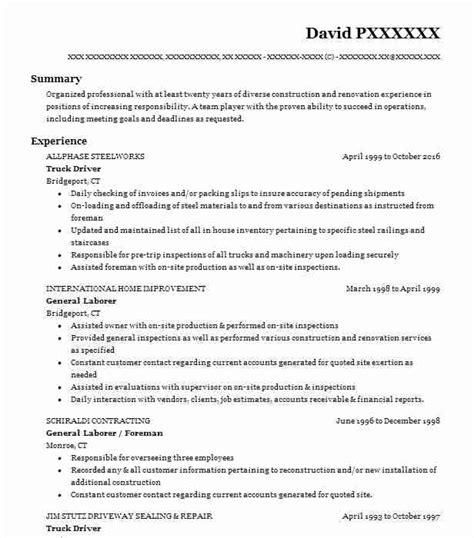 Duties Of A Truck Driver For Resume by Truck Driver Objectives Resume Objective Livecareer