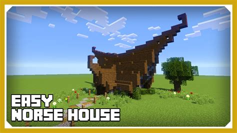 minecraft   build  small norse viking house tutorial easy survival minecraft house