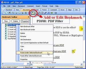 how to add and edit pdf bookmark With pdf document bookmark