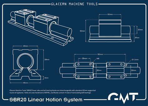 glacern machine tools linear rails  bearings