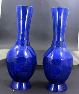 Royal Blue Lapis Lazuli : exclusive hand crafted stunning genuine royal blue lapis lazuli gemstone vases pair 2025 gram ~ Markanthonyermac.com Haus und Dekorationen