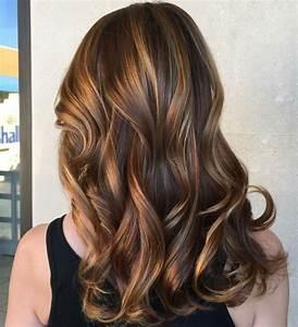 Meches Blondes Sur Chatain : 1001 exemples de couleur de cheveux chocolat ~ Melissatoandfro.com Idées de Décoration