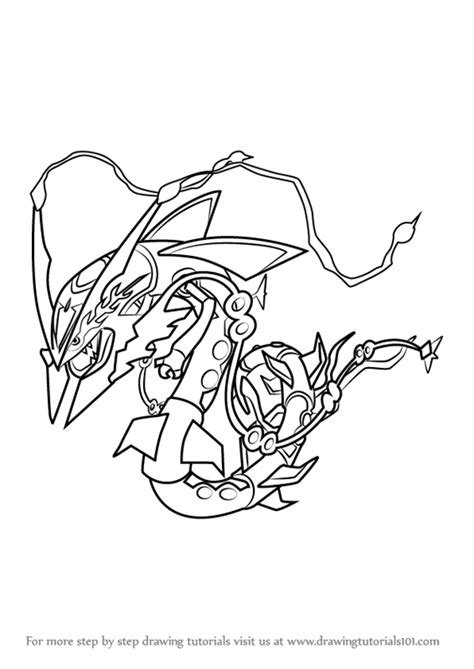 Kleurplaat Avalugg by Step By Step How To Draw Mega Rayquaza From