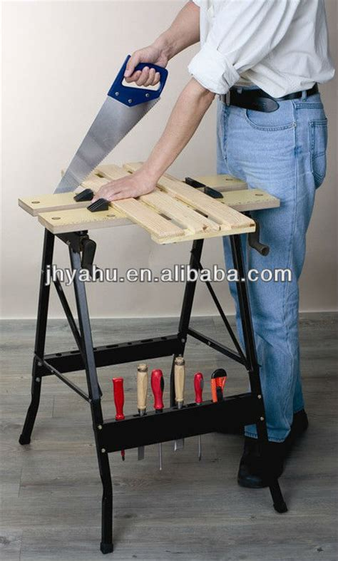 fold  portable mobile diy workbench clamping work