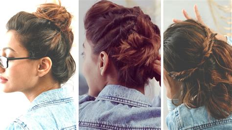 3 quick and easy hairstyles for short hair no heat