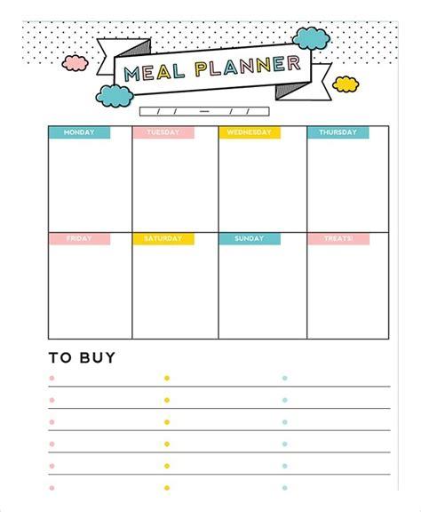 meal plan template   word  psd vector
