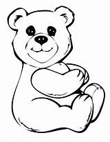 Bear Coloring Pages Bears Teddy sketch template