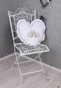 Stuhl Vintage Weiß : vintage garten stuhl shabby chic gartenstuhl weiss eisenstuhl klappstuhl metall ebay ~ Pilothousefishingboats.com Haus und Dekorationen