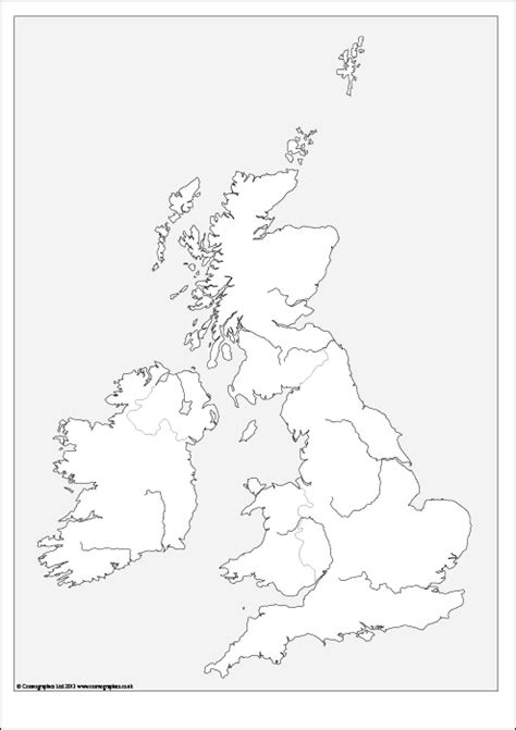 outline map   british isles
