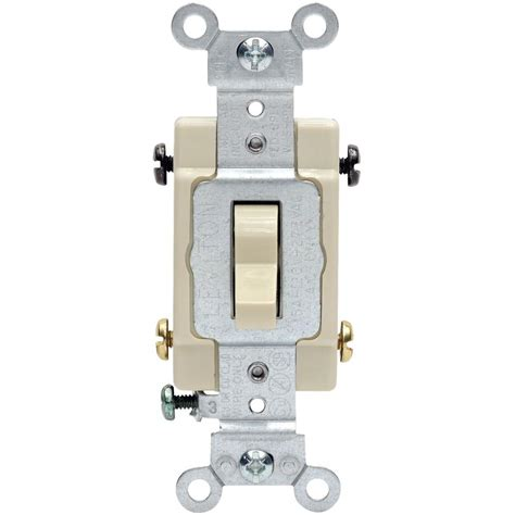 Leviton Amp Way Toggle Switch Ivory Csb