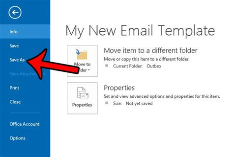 creating an email template in outlook 2013 how to create an outlook email template in outlook 2013