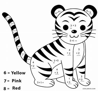 Coloring Math Pages Worksheets Addition Printable Worksheet