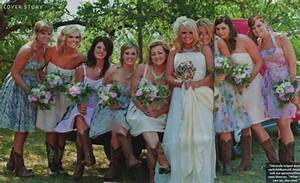 printed bridesmaids dresses weddingbee With miranda lambert wedding dress