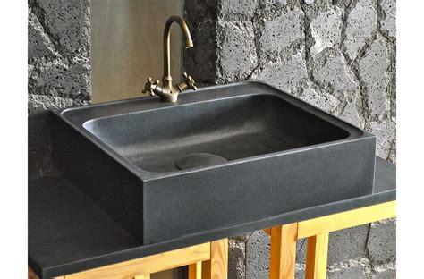 evier de cuisine en granite 70 x 60cm évier de cuisine en granit noir véritable
