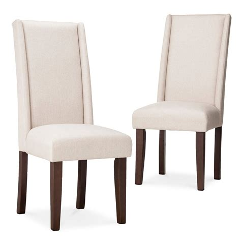 modern wingback dining chair yellow set of 2
