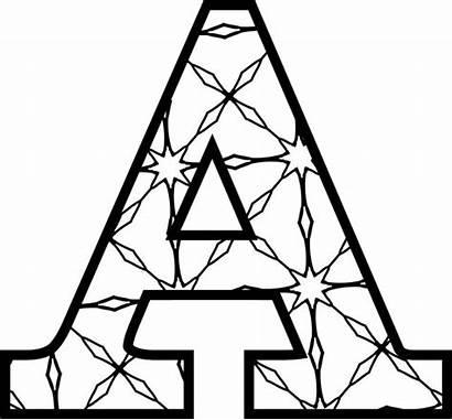 Letters Letter Printable Alphabet String Colouring Pattern
