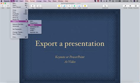 export    keynote  powerpoint