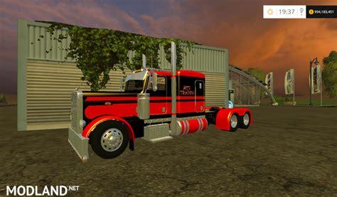 Top Selling Truck 2015 by Peterbilt Flat Top Truck Mod For Farming Simulator 2015