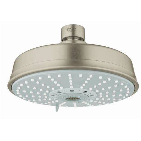 Grohe Shower Heads by Grohe Rainshower Brushed Nickel Spray Shower At Lowes