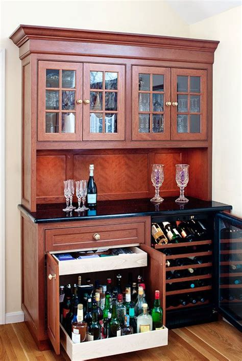 bar idea  pull  cabinet  heavy liquor bottles