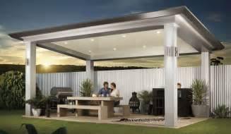 new style homes stratco pavilion alfresco pergola