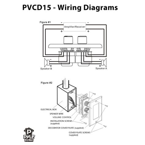 70 Volt Volume Wiring Diagram by New Pyle Pvcd15 In Wall Two Speaker Dual Knob Independent