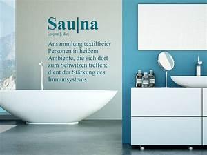 Sauna Handtuch Mit Namen : wandtattoo sauna definition wellness wandtattoo de ~ Orissabook.com Haus und Dekorationen