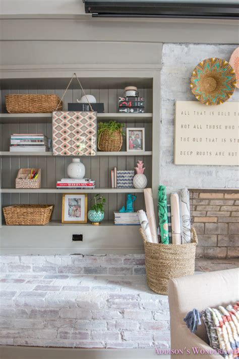 104 best modern brickwall office images on pinterest in 2018. My Whitewashed Brick Walls Basement Home Office Reveal w/ Decorating Ideas!