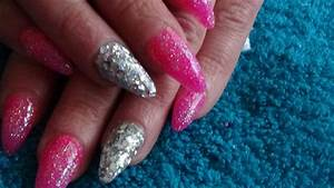 Pink Glitter Acrylic Nails - cpgdsconsortium.com