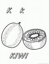 Kiwi Coloring Pages Fruit Fruits sketch template