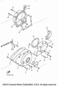Yamaha Motorcycle 2006 Oem Parts Diagram For Crankcase Cover  1
