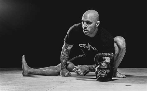 rogan joe kettlebell workout exercise onnit motivation shape mma wife gorilla gym training educateinspirechange listen bjj squat 2007 into fitness