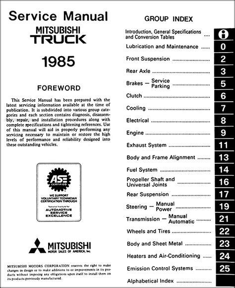 how to fix cars 1985 mitsubishi truck transmission control 1985 mitsubishi truck repair shop manual original