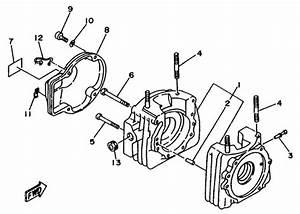 Yamaha Crankcase Parts    Yamaha Kt100 Engine Parts    2