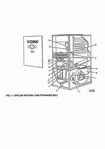 York Upflow Natural Gas Furnace Parts
