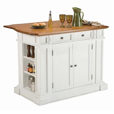 white kitchen island with breakfast bar shop home styles white farmhouse kitchen islands at lowes com