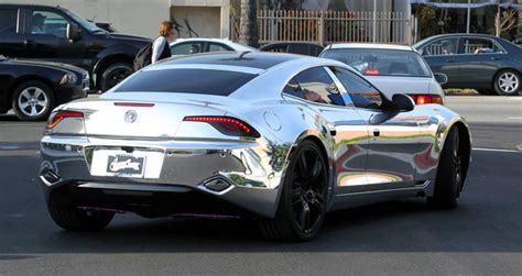 Justin Bieber Car by Justin Bieber S New Chrome Car Fisker Karma Carz