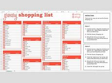 Grocery Shopping Lists Grocery List Template – KukkoBlock
