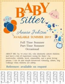 babysitting flyer template free babysitting flyer templates postermywall