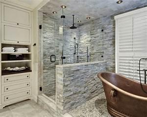 Stacked Stone Shower Houzz