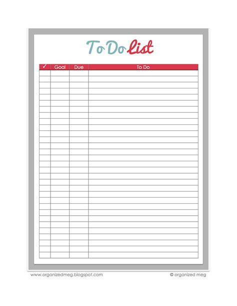 Organized Meg: Printables: Revised