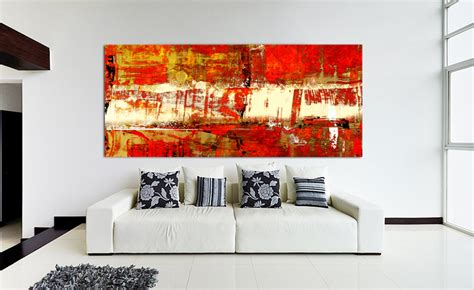 Contemporary Red Abstract Art