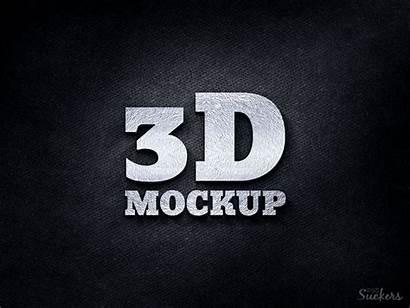 Mockup 3d Silver Template Psd Mockups Metal
