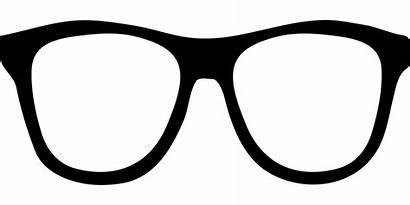 Glasses Eyeglasses Clipart Silhouette Geek Pixabay Svg