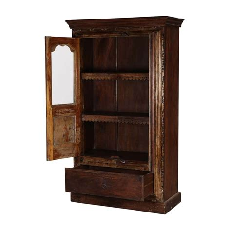 Brown Armoire by Willamette Glass Door Brown Solid Wood Armoire With