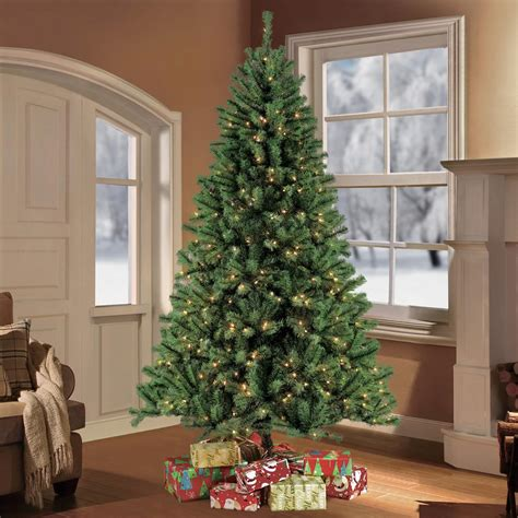 holiday time pre lit 65 madison pine white artificial christmas tree clear lights puleo 7 5 ft pre lit northern fir artificial
