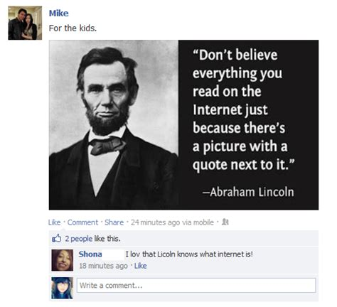 foto de Pin by KB Wood on Funnies Lincoln quotes Abraham