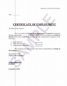 certificate of awesomeness template - formal sample of certificate of employment with white